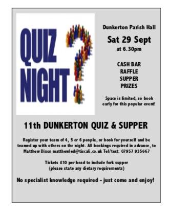 Dunkerton Quiz 2018