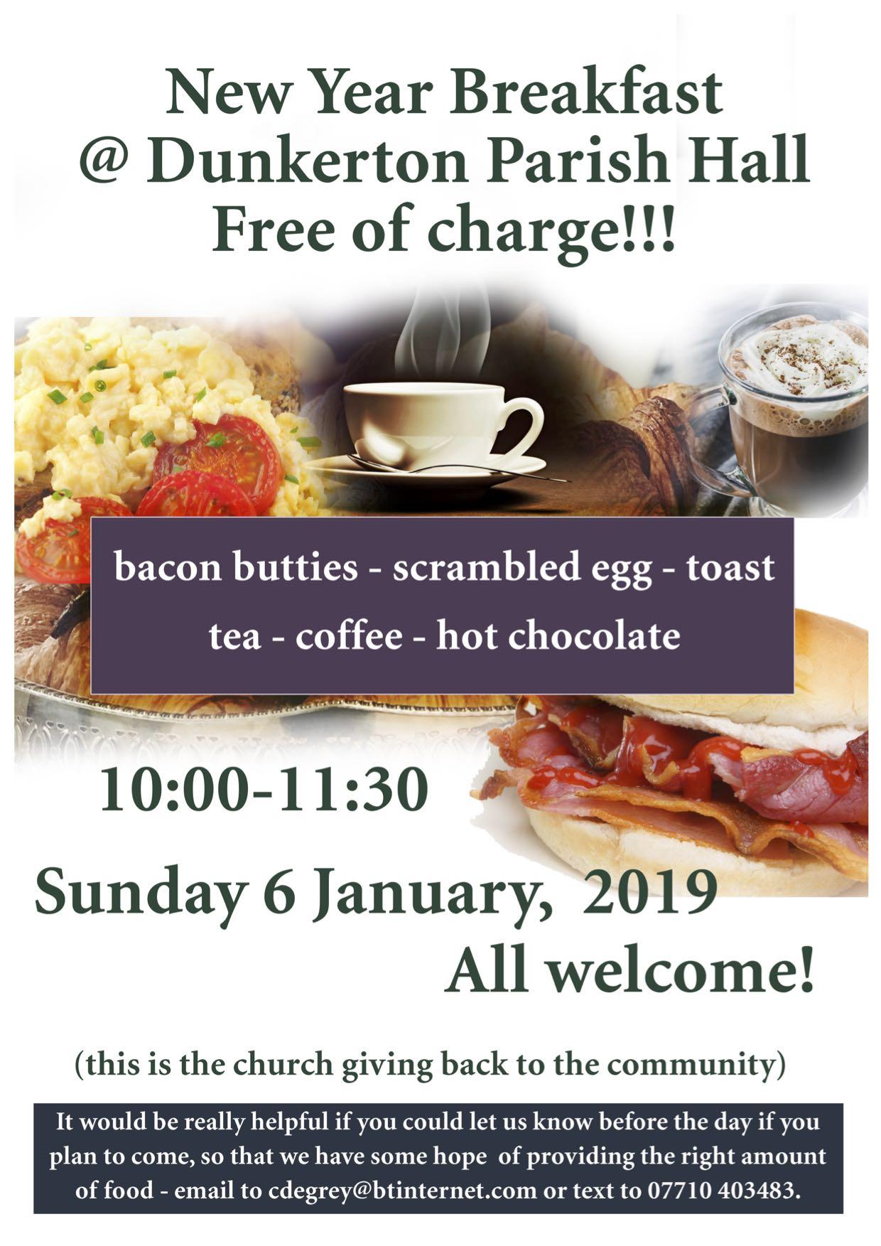 new year breakfast flyer