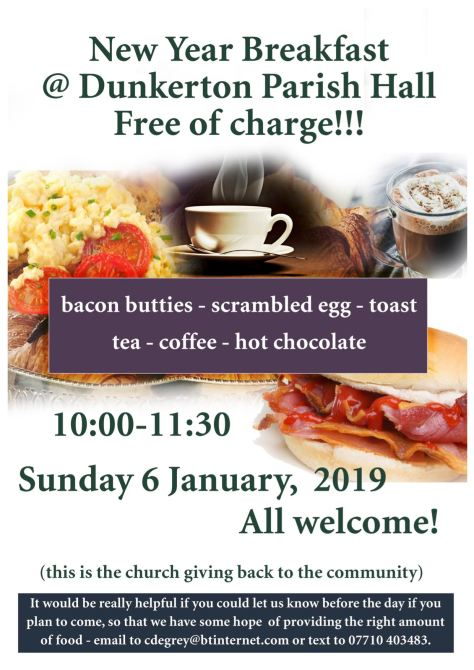 new year breakfast flyer